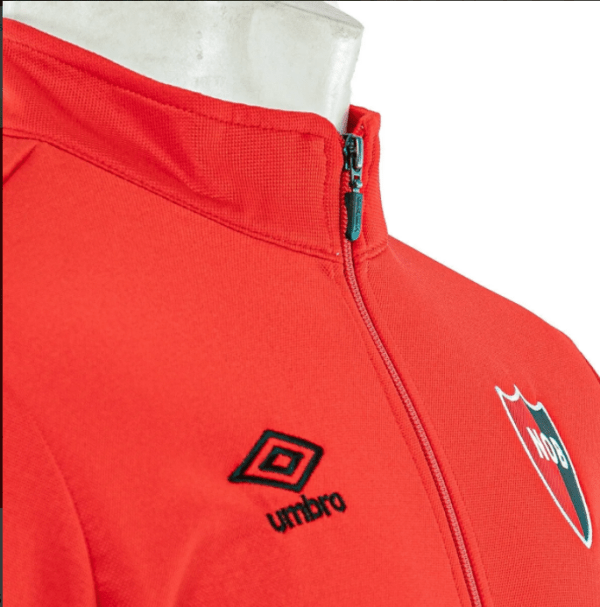 Newell's Old Boys Tracksuit Top Red Close up