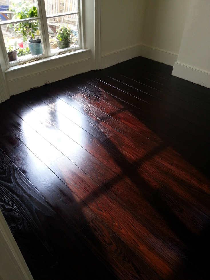 Depp stained oak floor