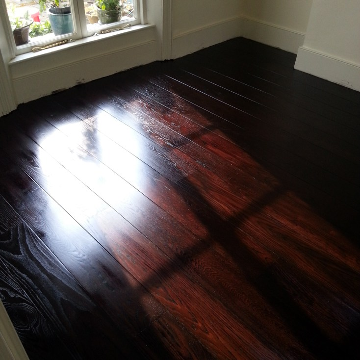 Dark and warm stained oak floor