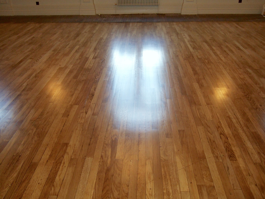 100 year old oak ballroom floor sanded and finished