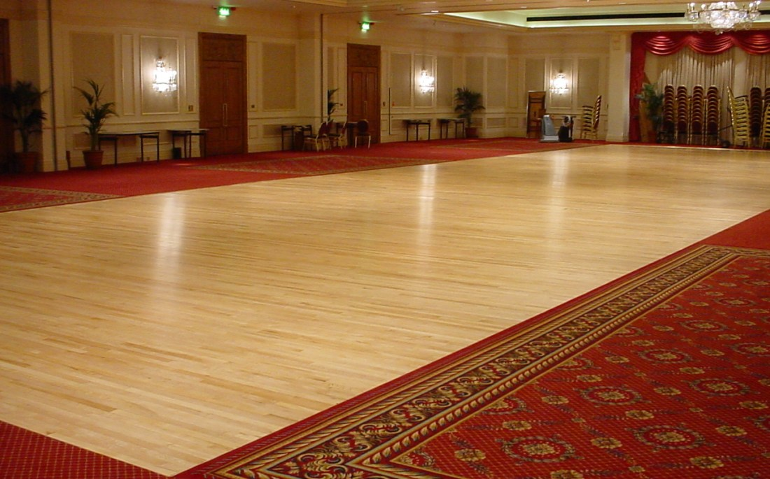 London Marriott Grosvenor Square hotel ballroom floor sanded and finished