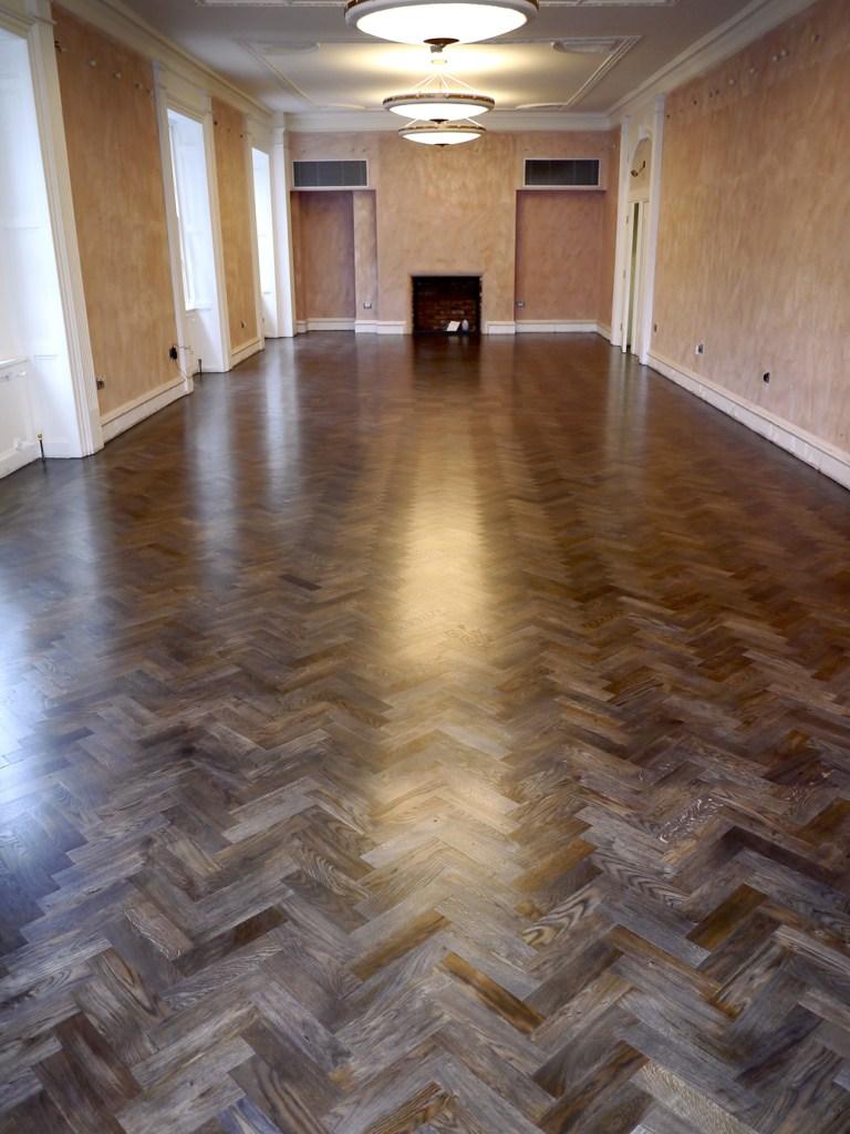 Amazing smoked oak parquet floor