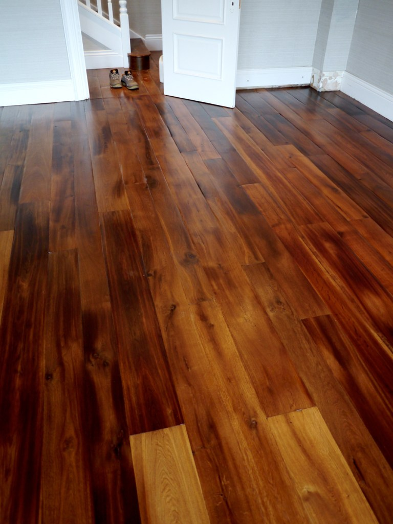 polished fumed oak floor in Poole