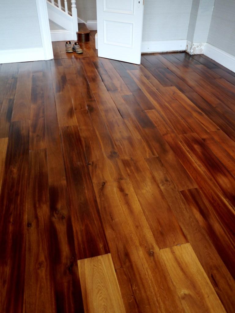 polished fumed oak floor in Poole