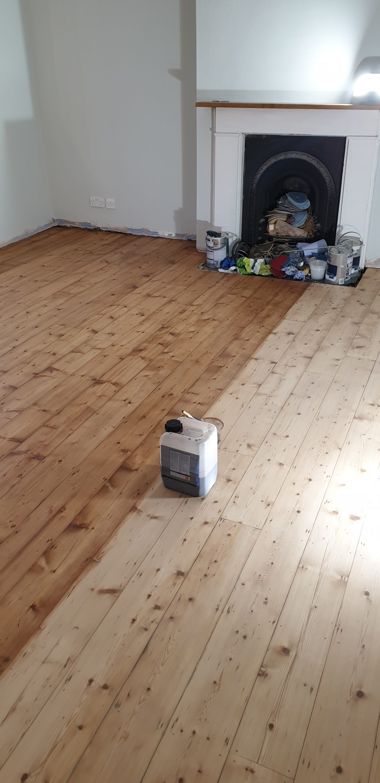 Staining and finishing Victorian pine floor