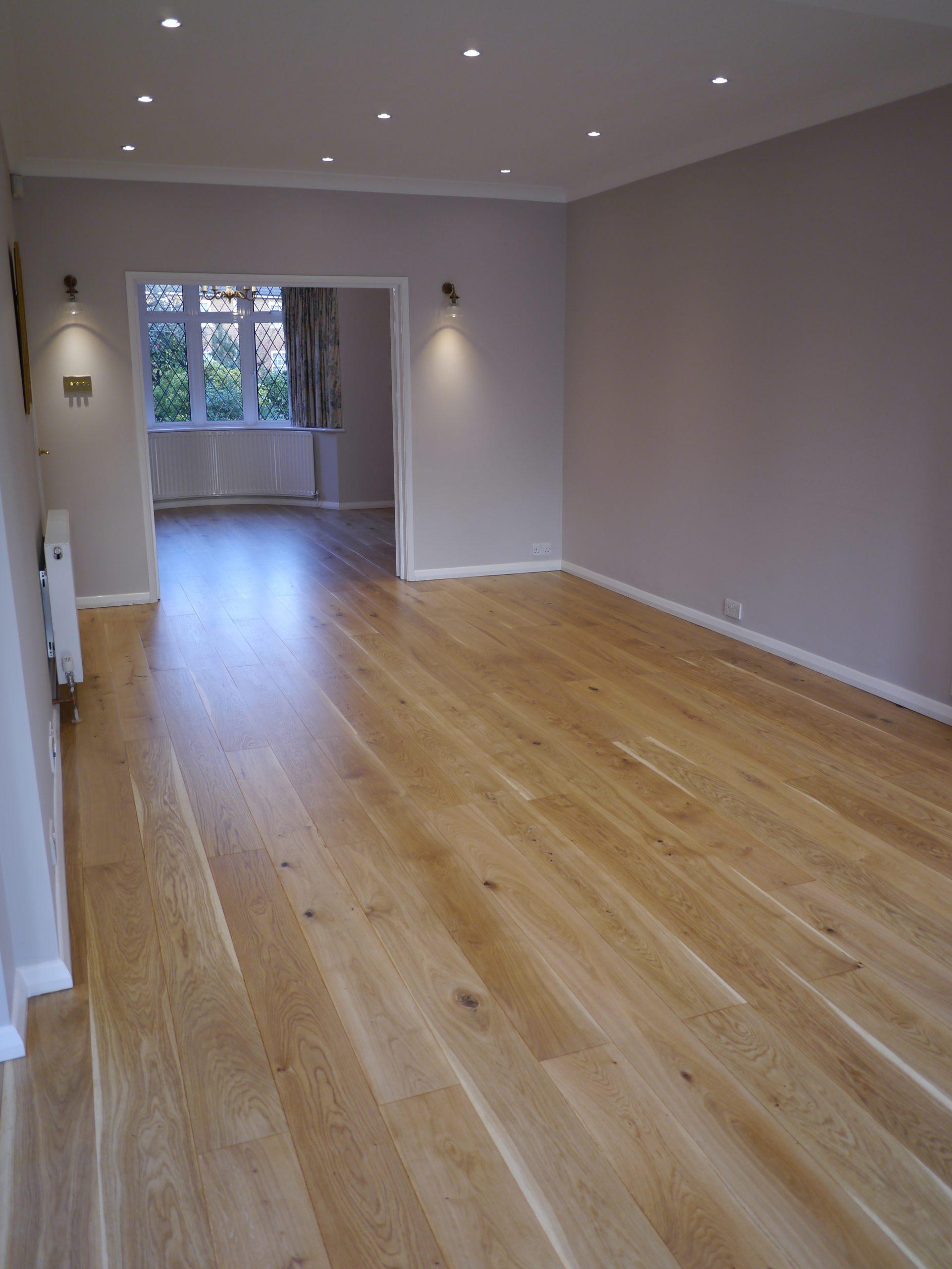 Select grade solid oak floor matt lacquered