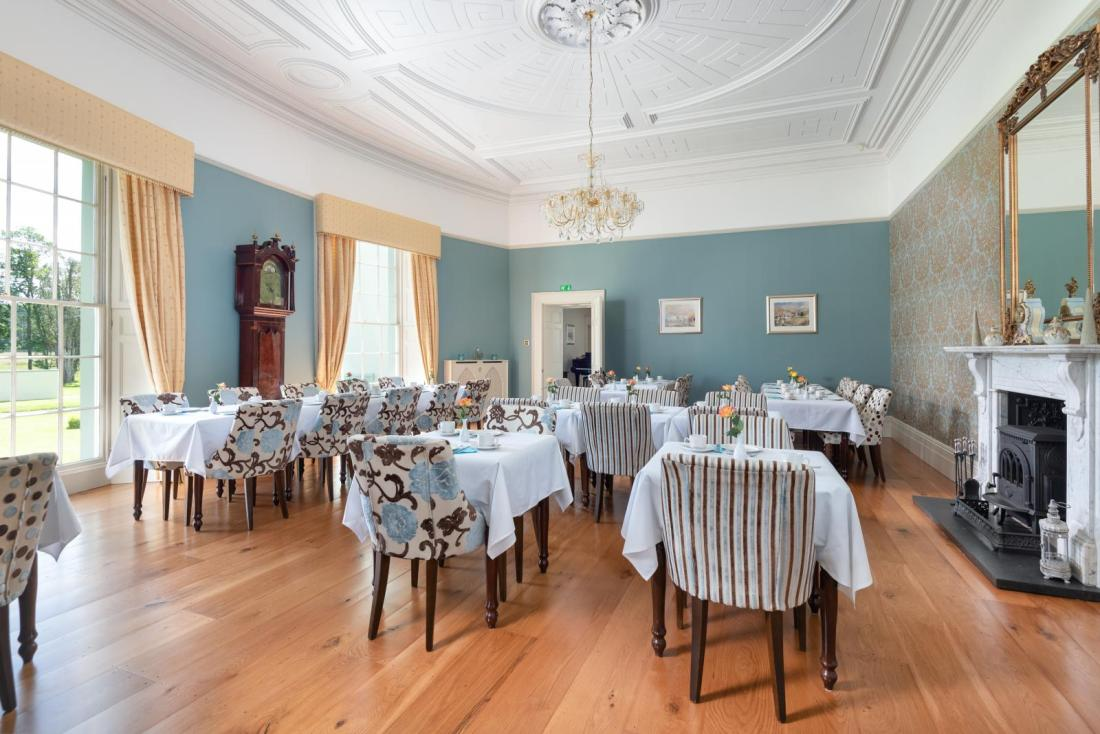 Camerton Hall dining room with sanded and finished floor
