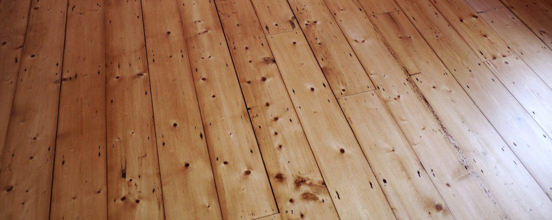 Stunning reclaimed Victorian pine floor fitting