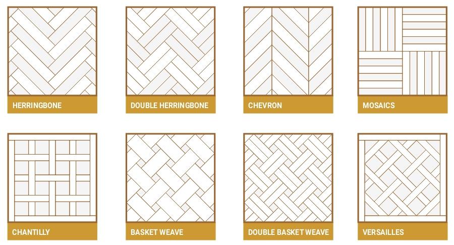 Parquet pattern styles