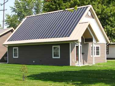 Zero Energy Home with Solar Panels
