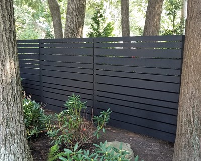 Two Sided Contemporary Fence New England Cedar Fence