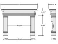 Pin Fireplace Dimensions on Pinterest
