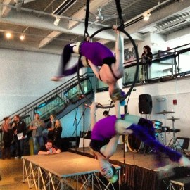 Trapeze artists at Lovesick Expo