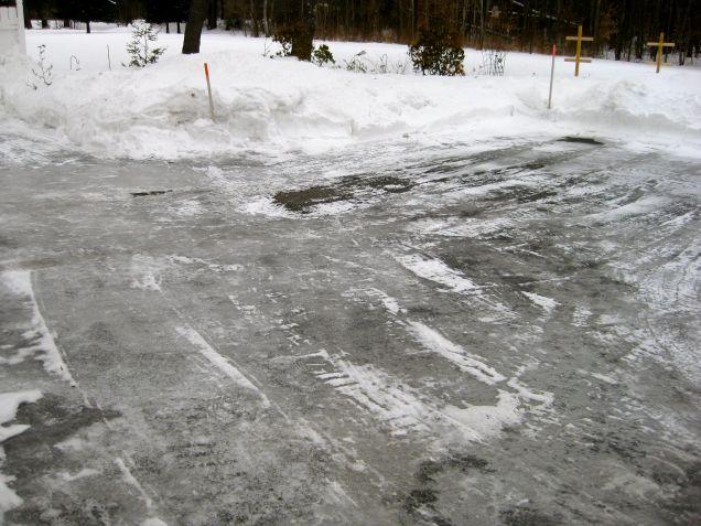 Ice on driveway