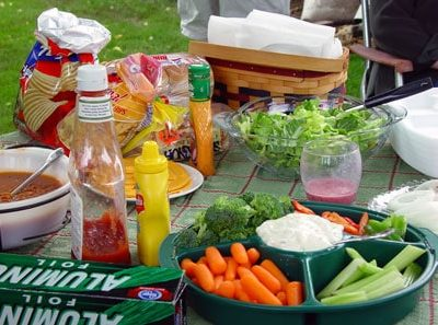 Vegetables while Camping