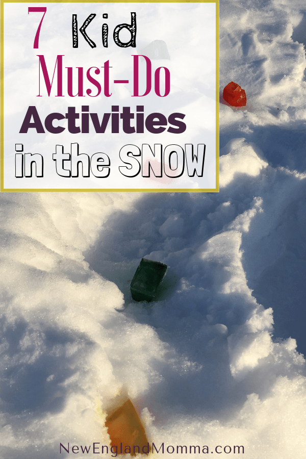 The winter may seem long but it won't last! Here is my 7 Must-Do Kid-Required Activities to do before the snow melts! Easy & fun to do. Winter will be over before we know it! Take this time to do some fun and unique activities with your kids!