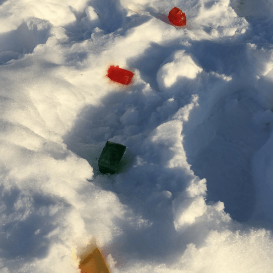 The winter may seem long but it won't last! Here is my 7 Must-Do Kid-Required Activities to do before the snow melts! Easy & fun to do at home! Check out these easy to do color ice cubes for an in the snow scavenger hunt!