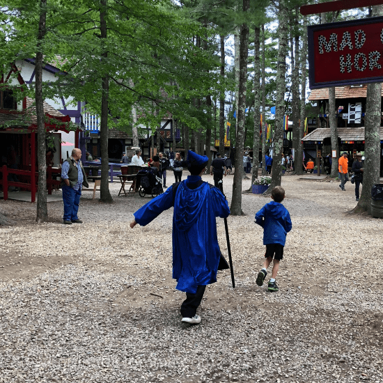 King Richard's Faire is a day of renaissance fun complete with games, rides, entertainment, shops and of course yummy food!