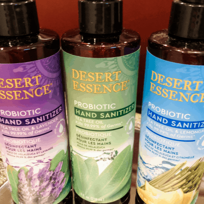 Protect from Germs with Desert Essence Probiotic Hand Sanitizer