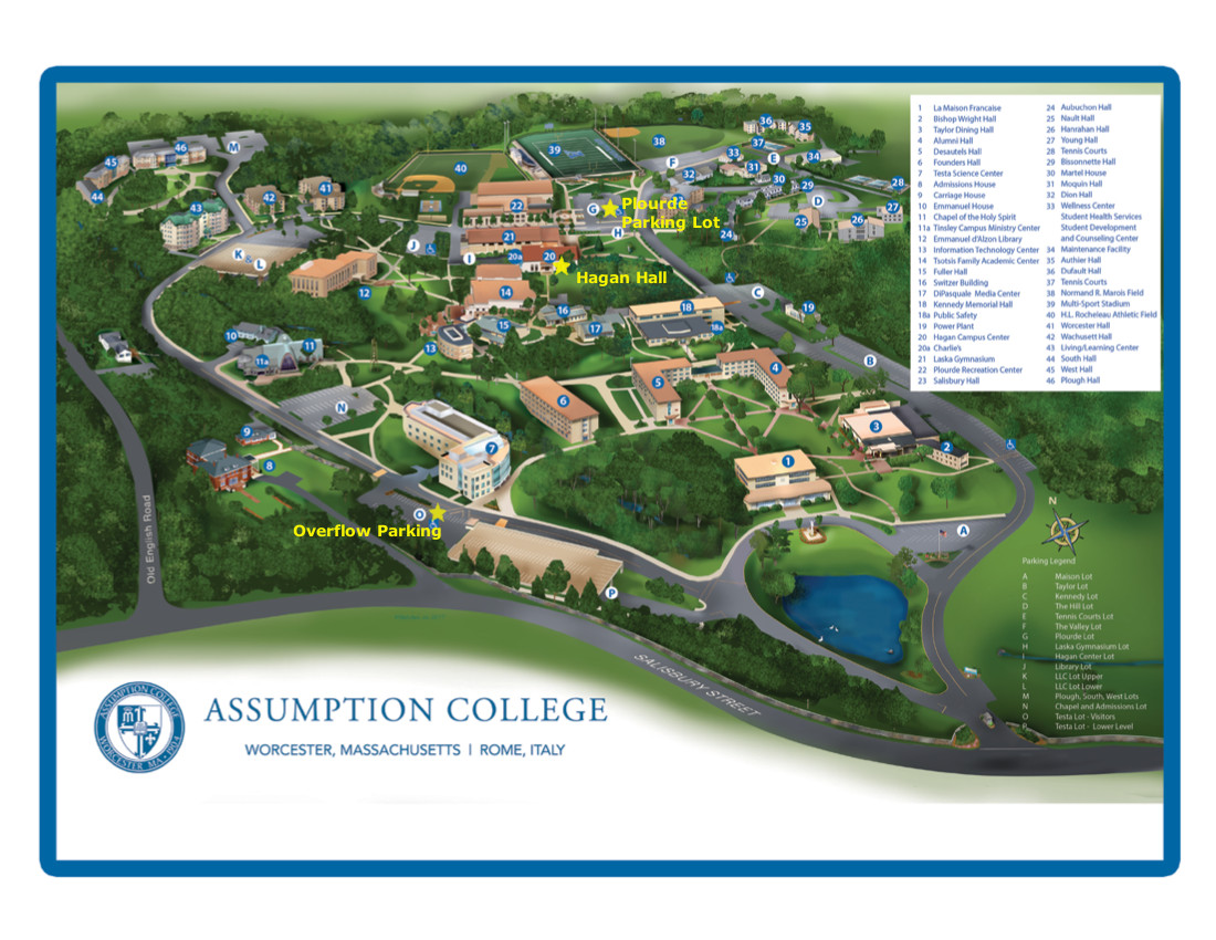assumption college campus map New England Scc Page 2 Dedicated To The Advancement Of assumption college campus map