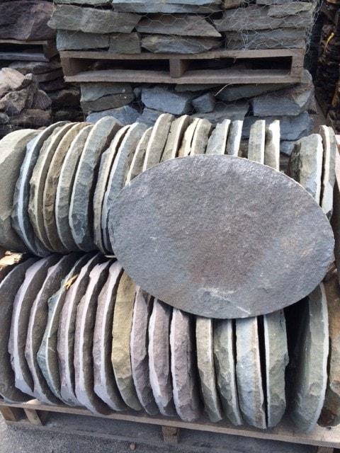 Bluestone Oval Stepping Stones  New England Silica Inc
