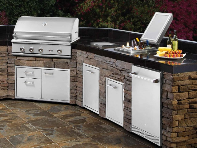 kitchen grills cart diy outdoor kitchens pizza ovens new england silica inc delta heat idea 3