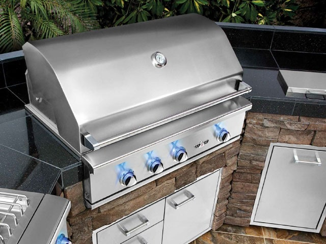 kitchen grills under cabinet lighting options outdoor kitchens pizza ovens new england silica inc delta heat idea 4