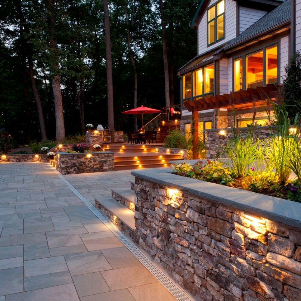 landscape lighting new england silica