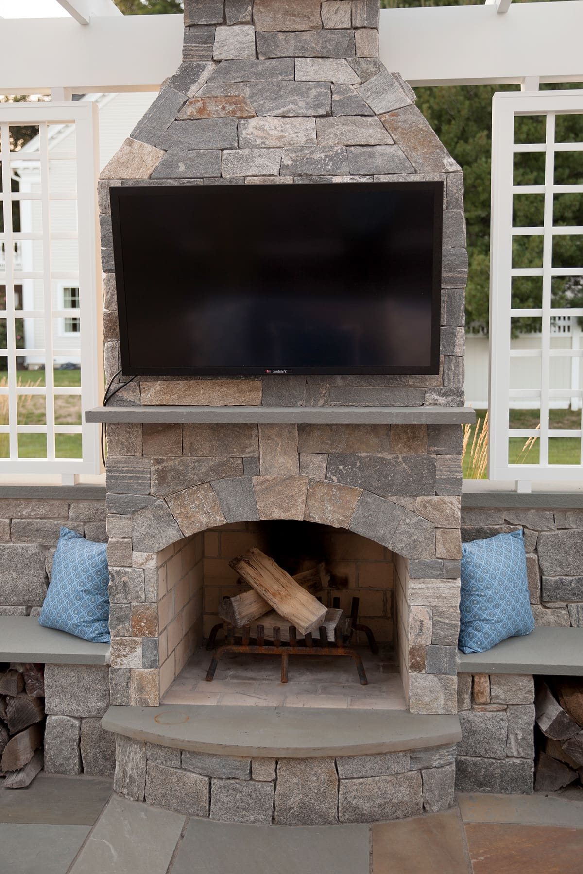 Brick Fireplaces Stone Age Manufacturing Outdoor Fireplaces - New England