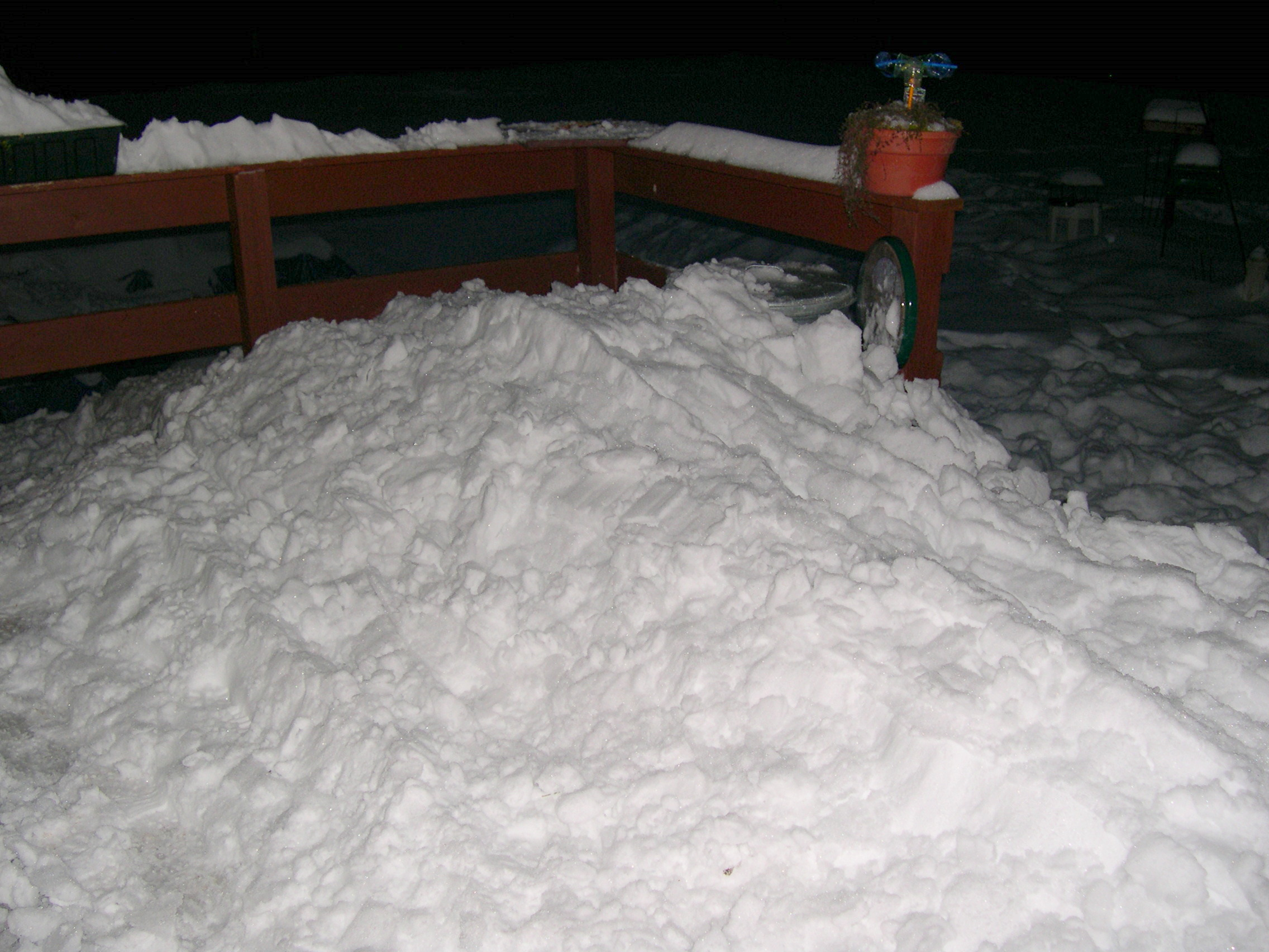snow from the roof