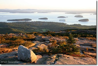Bar Harbor from Cadillac Mountain, Acadia National Park, Maine