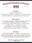 Weekend Schedule