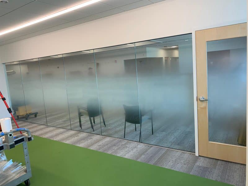 Creative Privacy at Boston Office With Custom Printed Decorative Glass Film - Decorative Window Films in Boston, Massachusetts