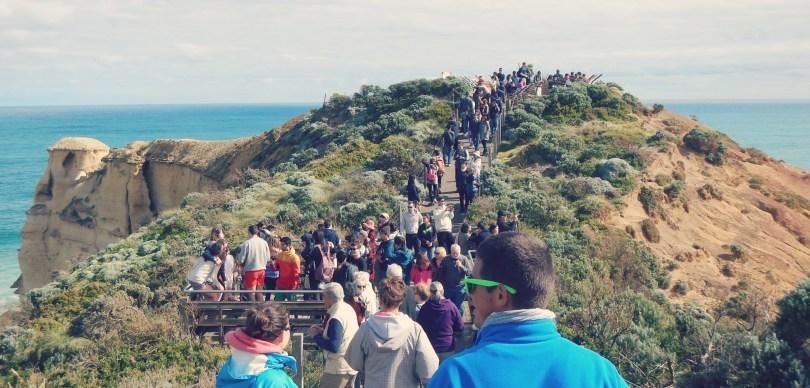 Foule touristique aux douze apôtres