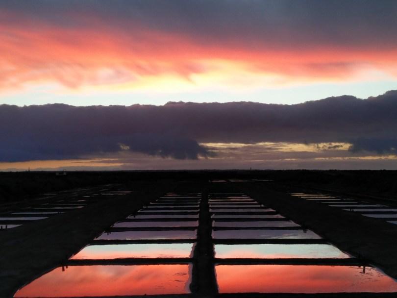 coucher de soleil à Loix