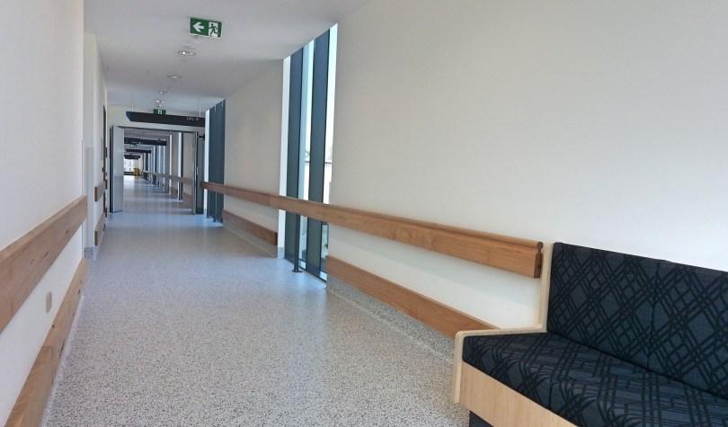 Les couloirs de l'hôpital de Campbelltown en Australie