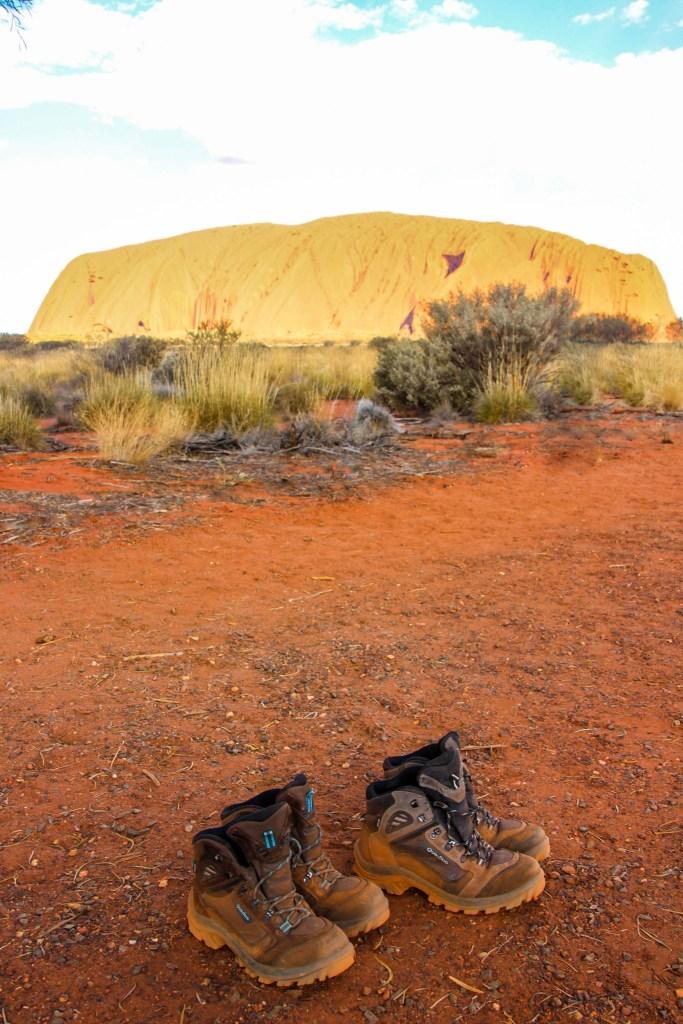 chaussures de randonnée en voyage en australie