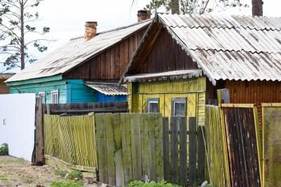Les habitations à Khoujir, en Sibérie @neweyes