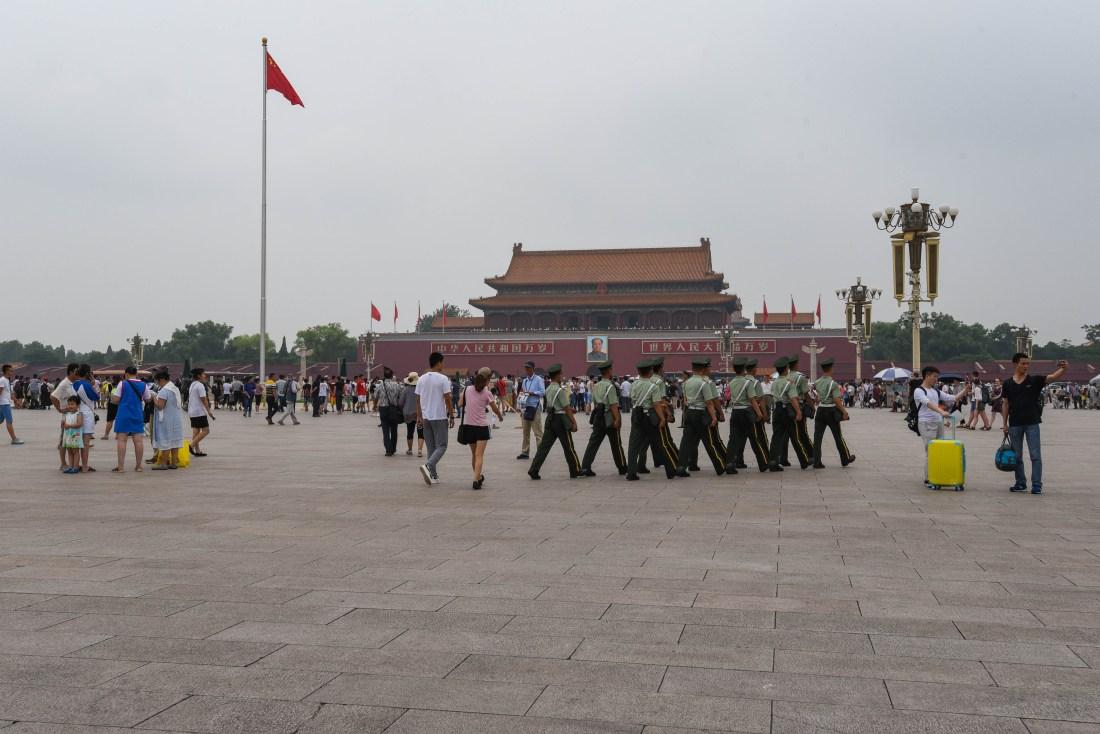 La célèbre Place Tian'anmen, Pékin @neweyes