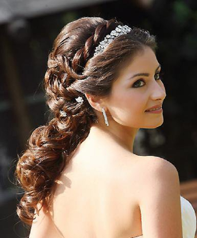 Remarkable Latest Wedding Bridal Hairstyle Hairdos 2016 Hairstyles For Men Maxibearus