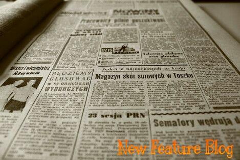 design blog post like newspaper