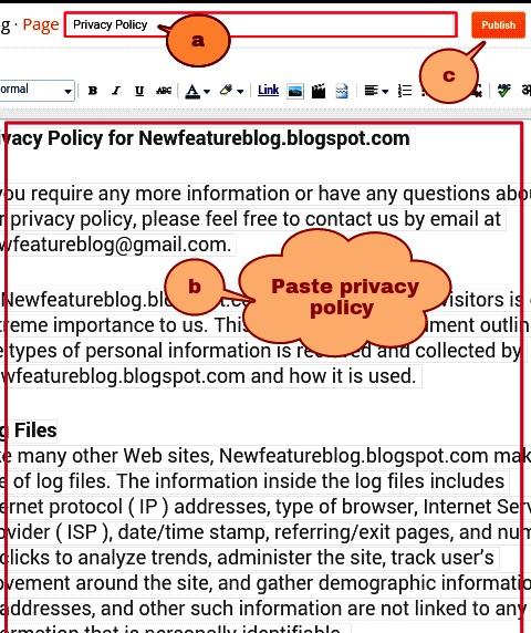 newfeatureblog.com privacy policy page ko paste kar de
