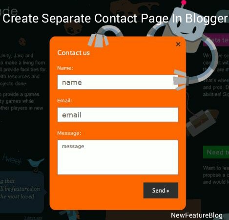 create-separate-contact-page-in-blogger-newfeaturteblog