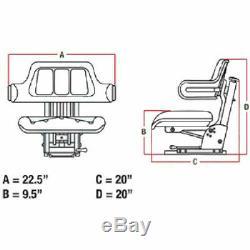 Yellow Tractor Suspension Seat For John Deere 5200 5210