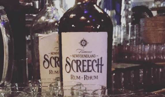 Rum for the Newfoundland Screech-in ceremony