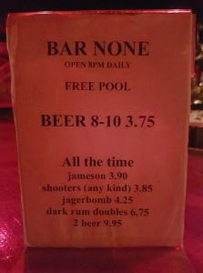 Pool in St. John's at Bar None