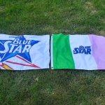 Blue Star Beer Flags