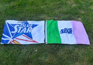 Blue Star Beer Flags