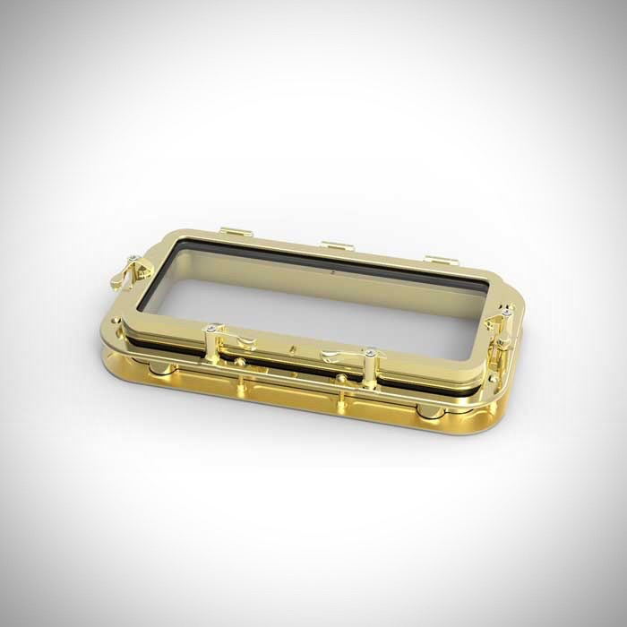 "image of our 8x18"" rectangular bronze portlight"
