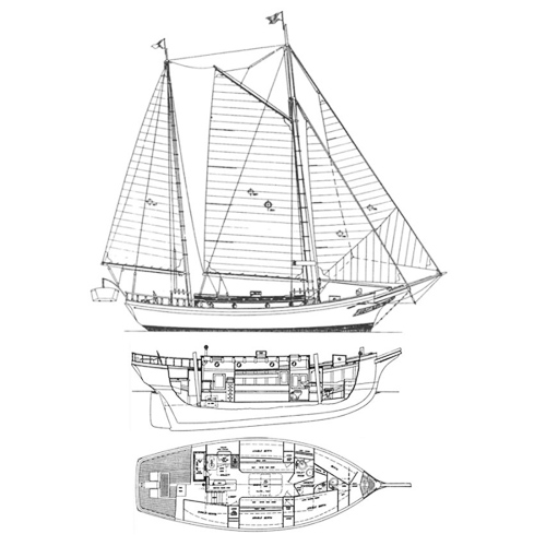Illustration of an Angleman Ketch Sea Witch Class